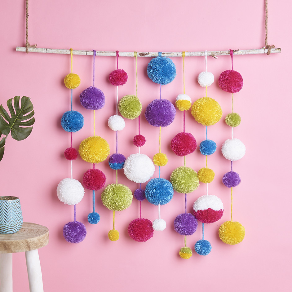 Marvel Soft 8Ply Pom Pom Wall Hanging Project