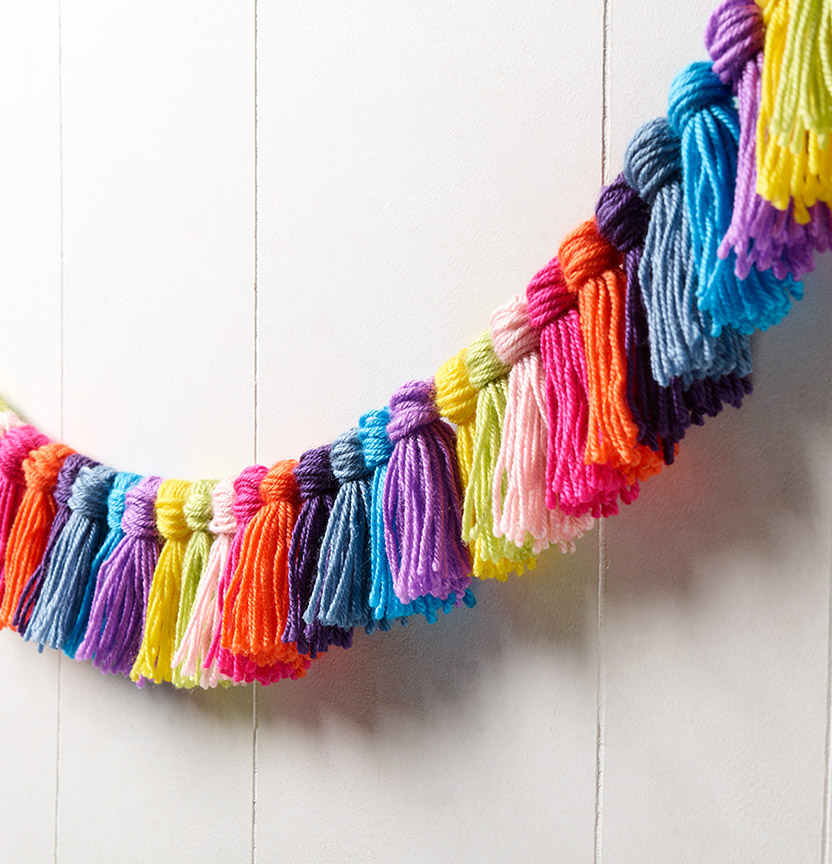 Marvel Soft 8Ply Tassel Garland Project