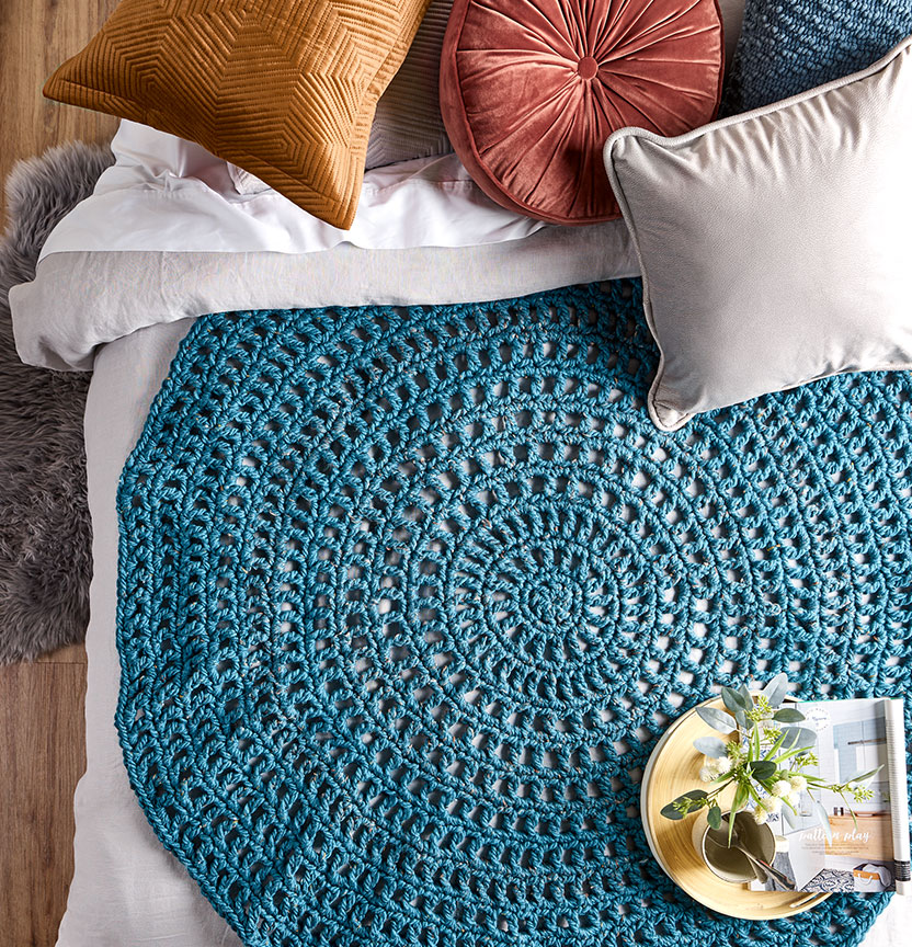 Mega Tweed Crochet Circle Throw Project