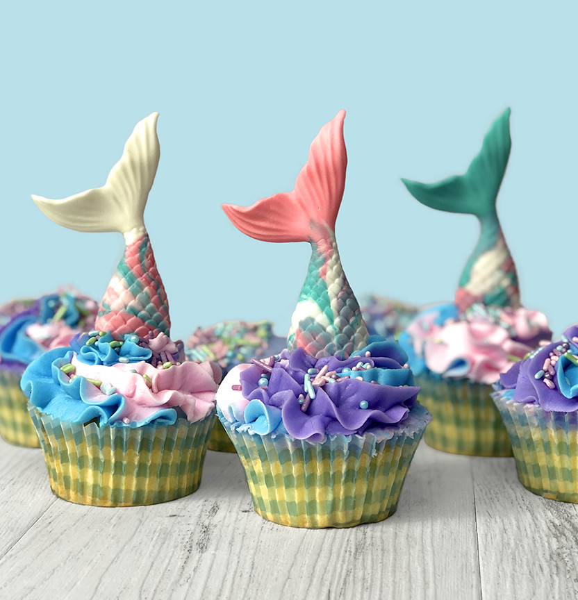 Mermaid Tail Cupcakes Project