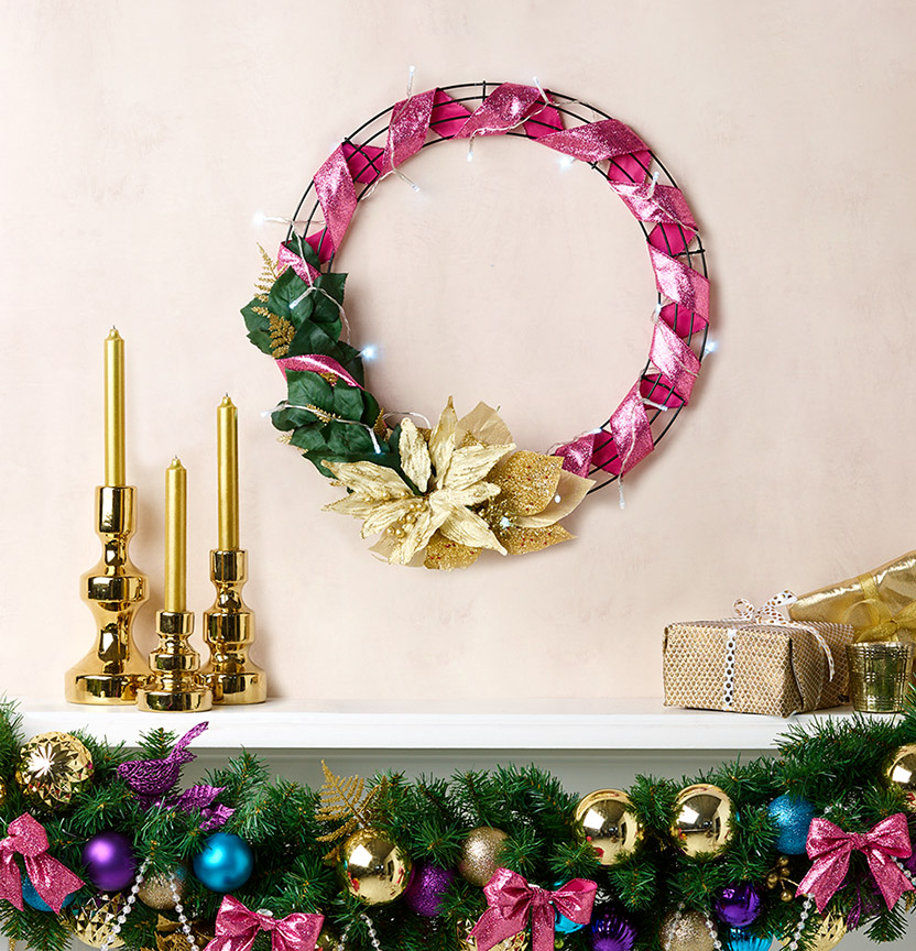 Merry & Bright Christmas Wreath & Garland Project