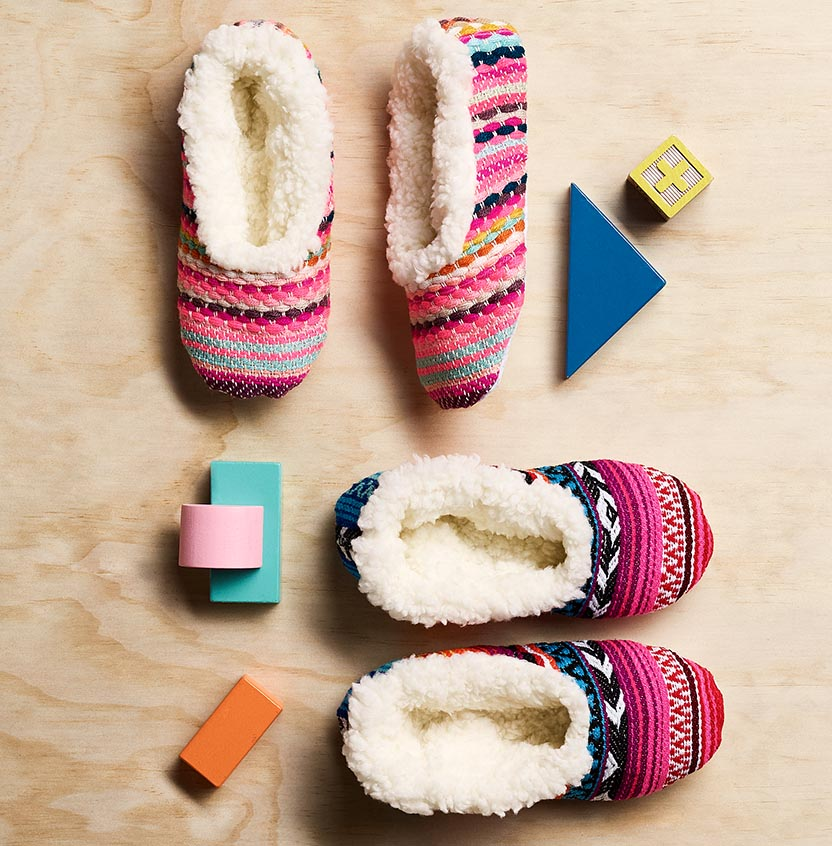Mexican Poncho Kids Slippers Project