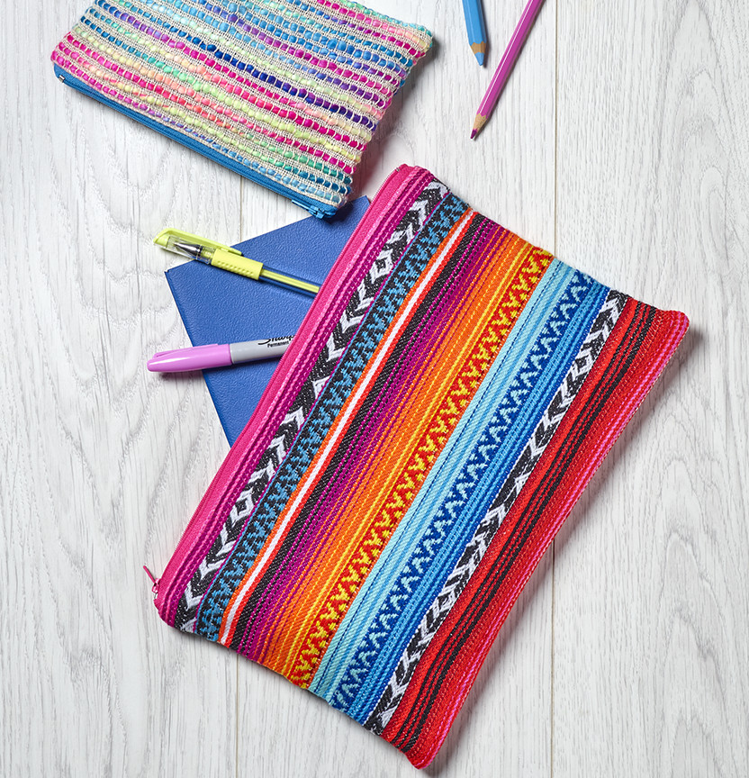 Mexican Poncho Pencil Case Project