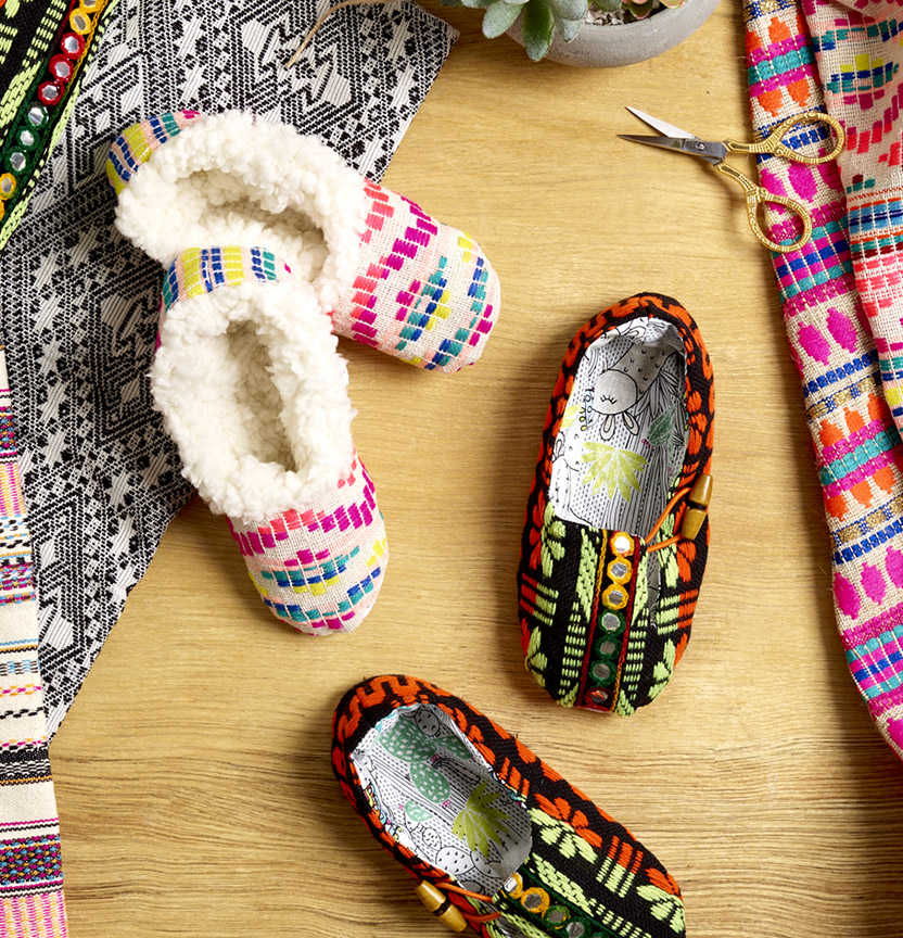 Mexican Poncho Shoes Project