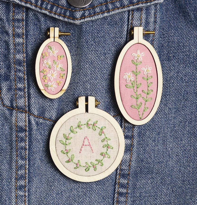 Mini Embroidery Hoops Project