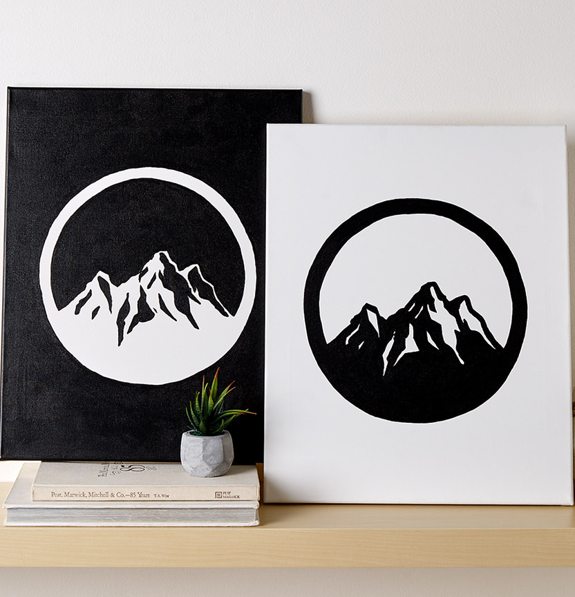 Monotone Mountains Painting Project