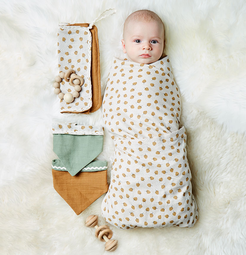 Muslin Wrap, Burp Cloths & Bandana Bibs Project