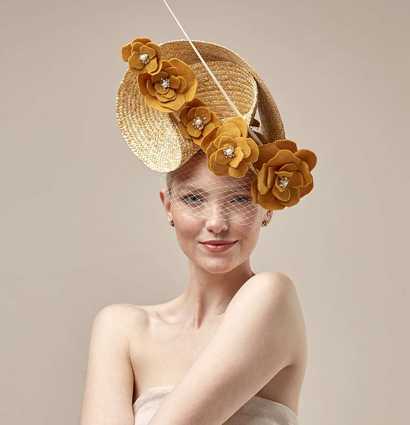 Mustard Straw Fascinator Project