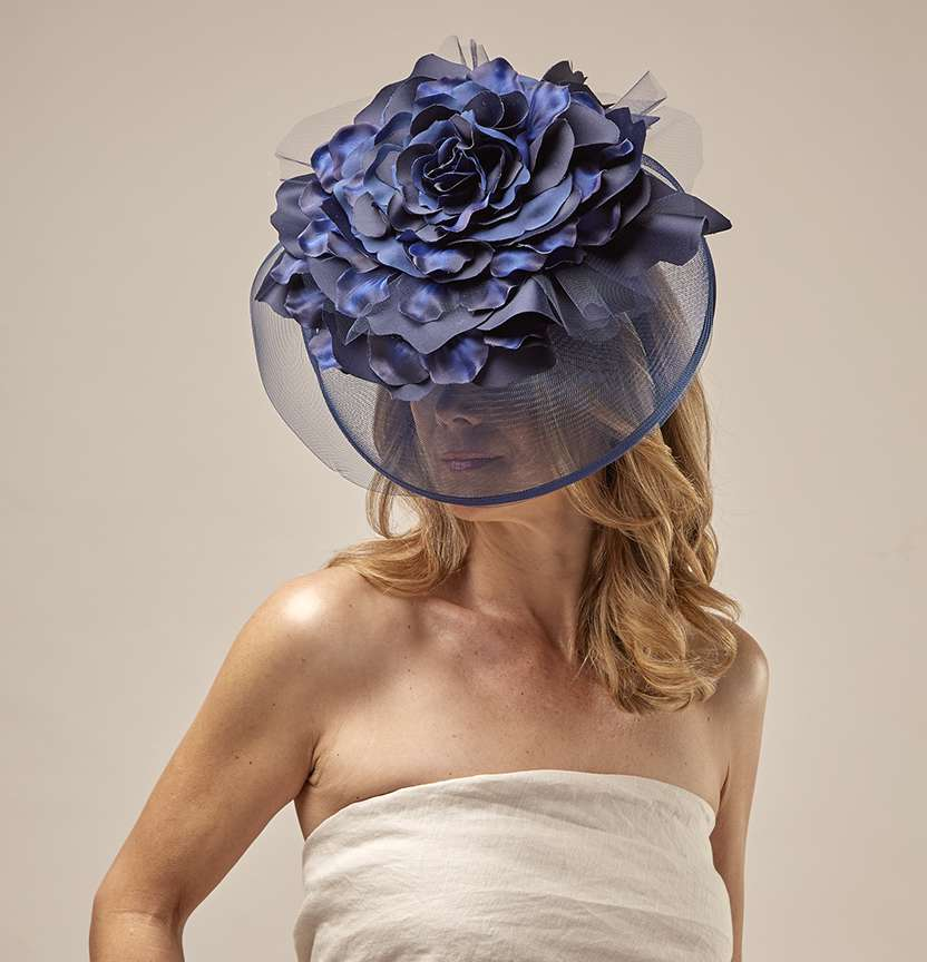 Navy Flower Fascinator Project