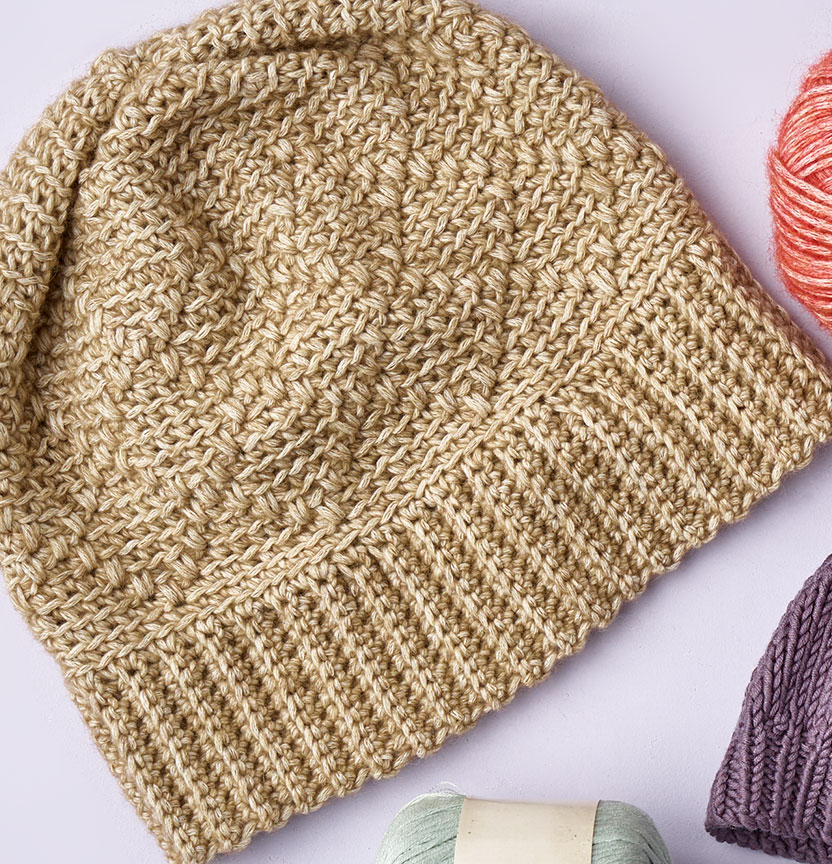 Northcote Cotton Crochet Diamond Pattern Beanie Project