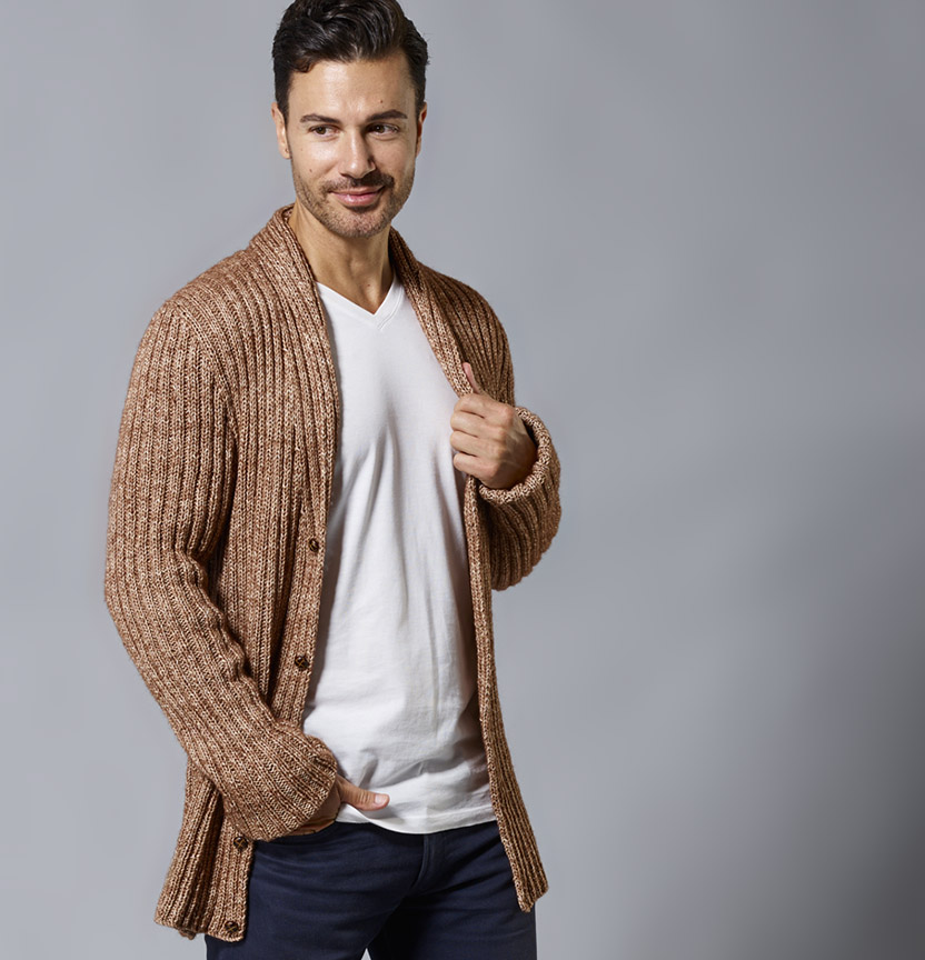 Northcote Cotton Mans Cardigan Project