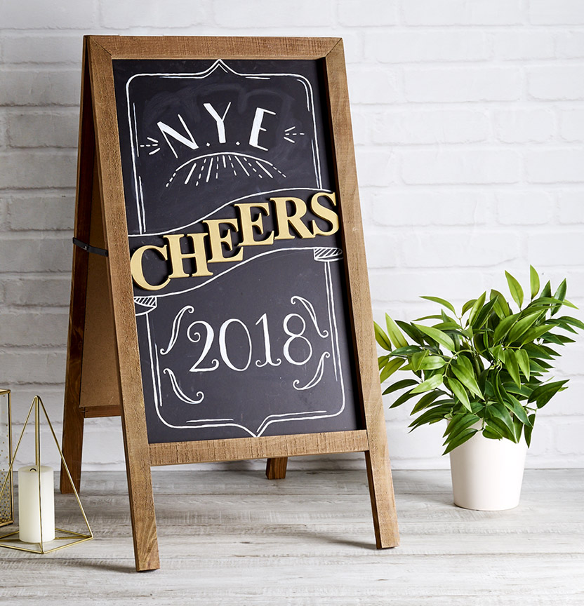 NYE Chalk Board Project
