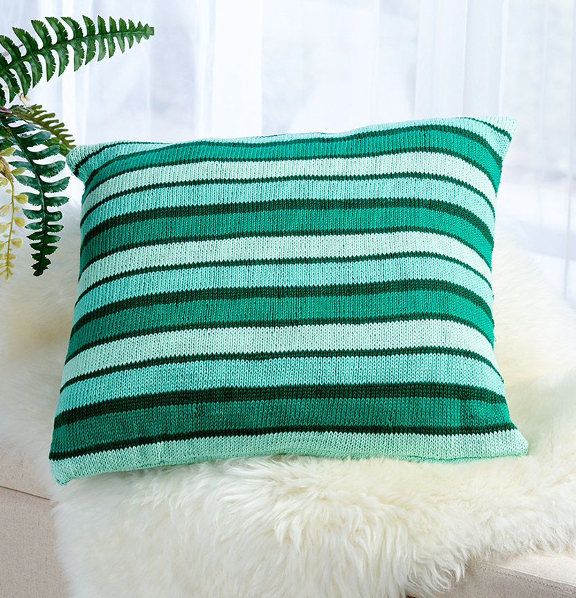 Ombre Delights Stripe Cushion Cover Project