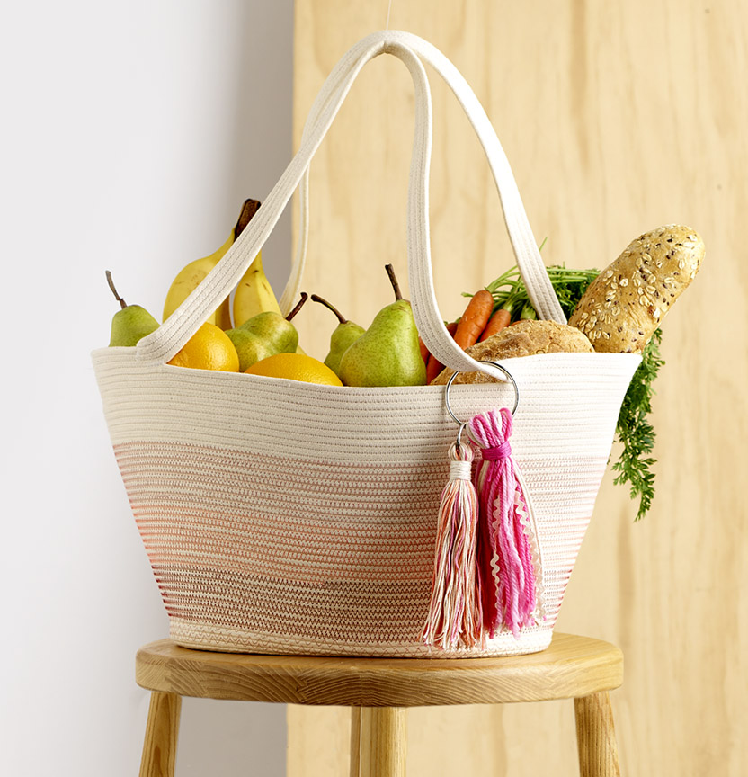 Ombre Rope Shopping Tote Project