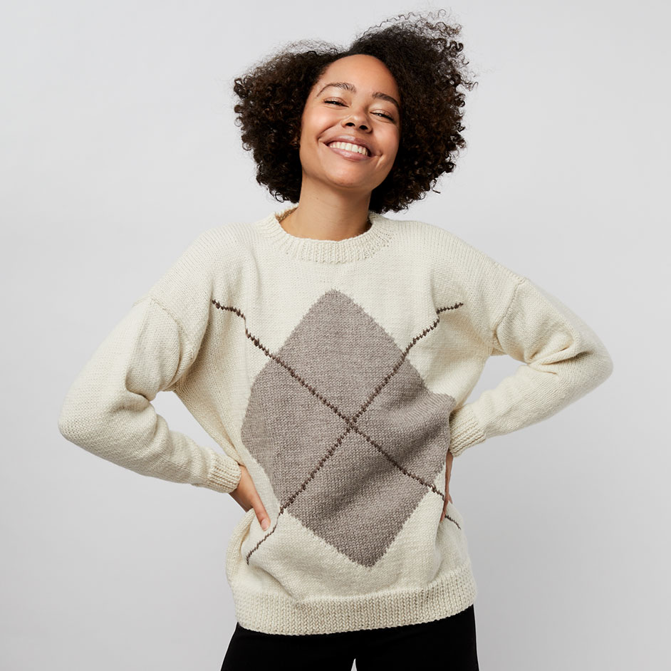 Organic Wool Argyle Jumper Project