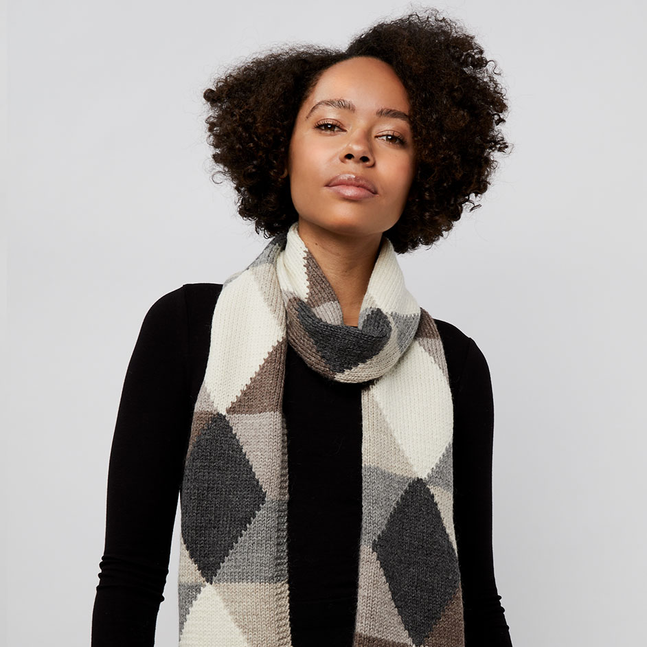 Organic Wool Argyle Scarf Project