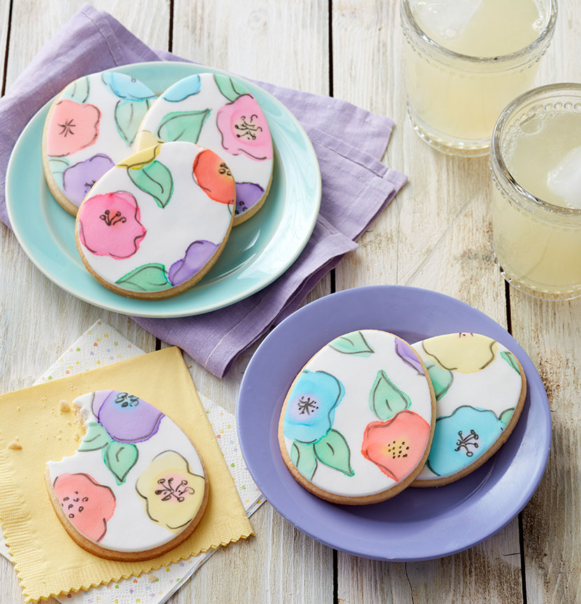 Painted Fondant Egg Cookies Project