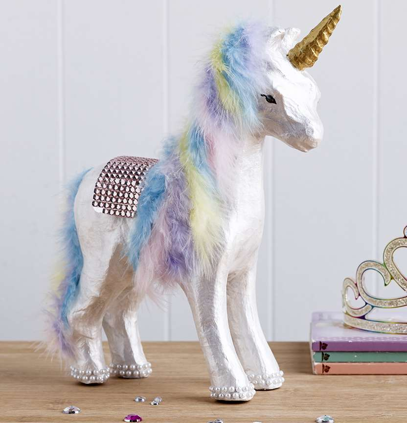 Paper Mache Unicorn Project