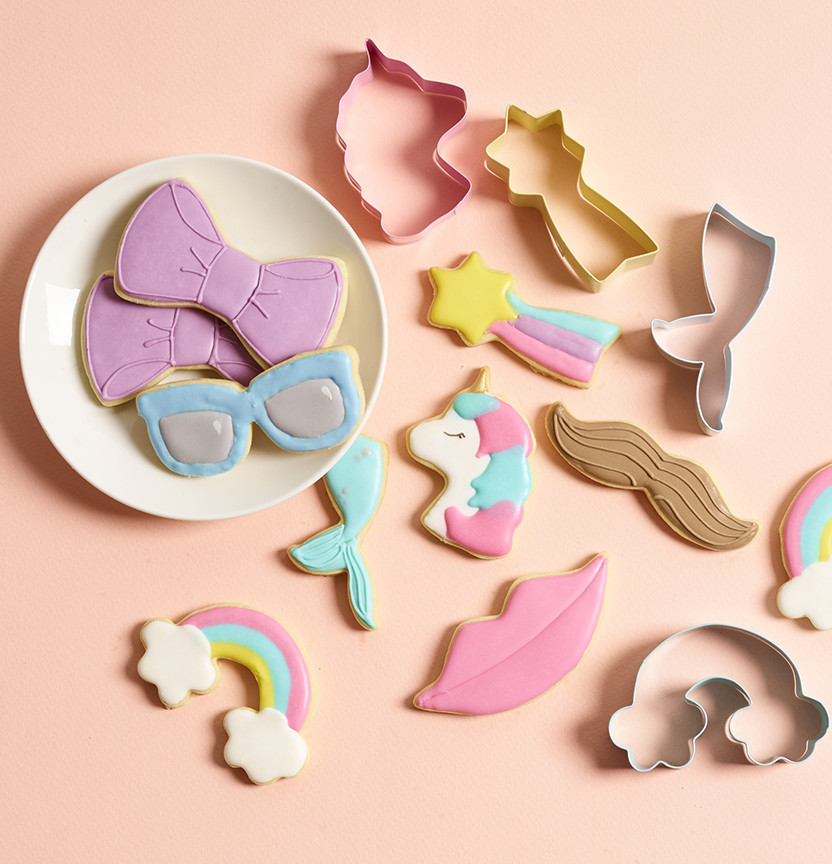 Party & Unicorn Fondant Cookies Project
