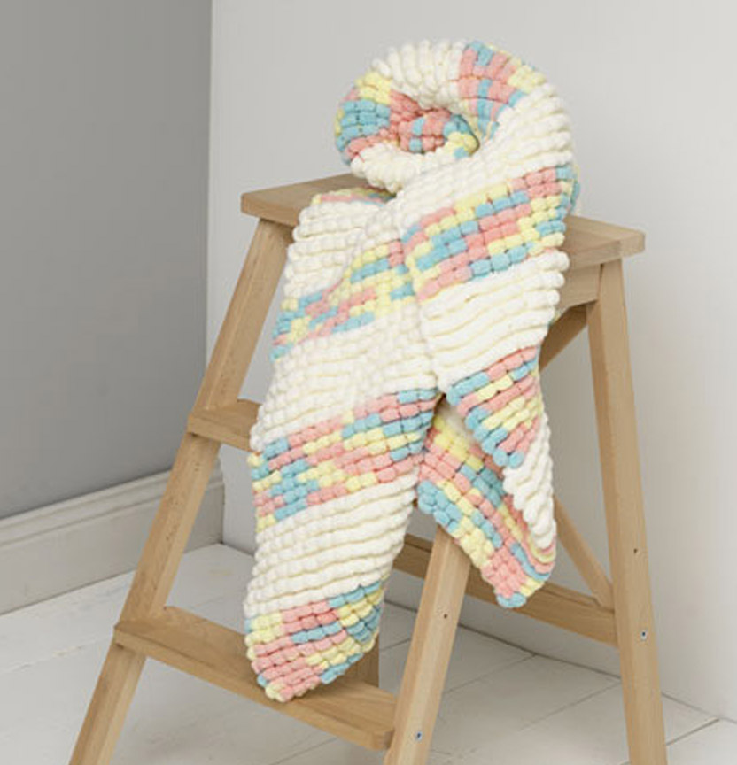 Passioknit Baby Pram Blanket Project