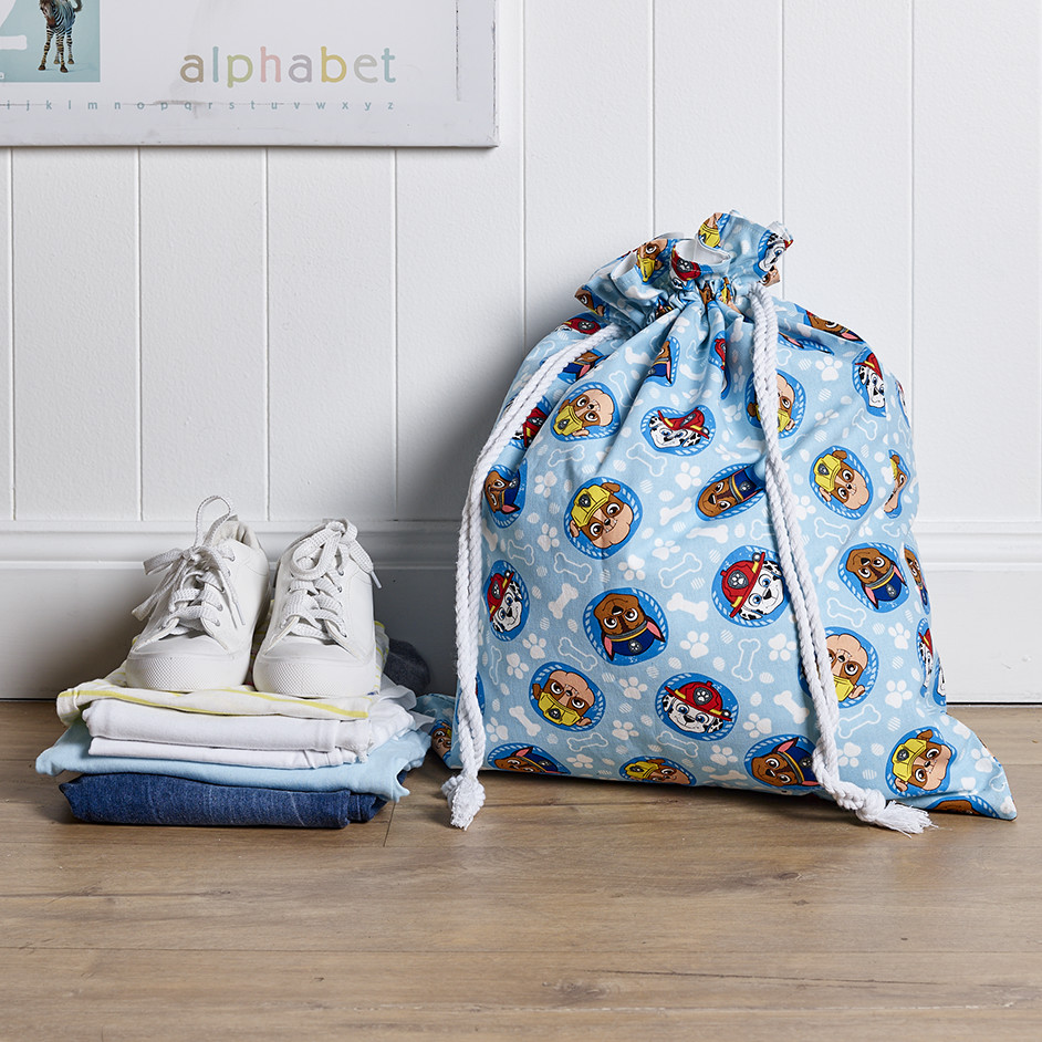 Paw Patrol Laundry Bag Project