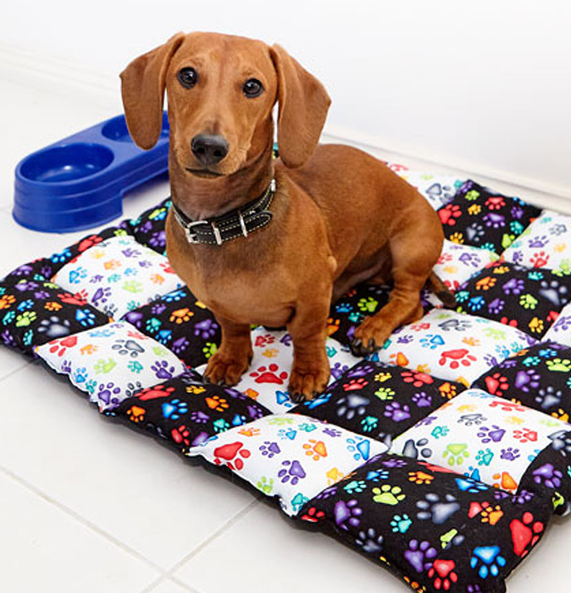 Paw Print Dog Bed Project