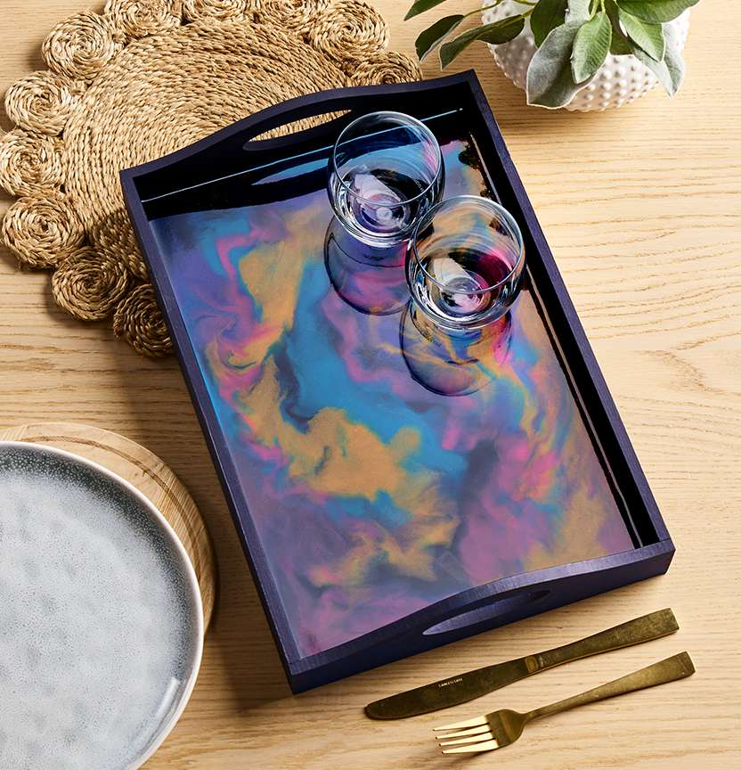 Pebeo Marbled Resin Tray Project