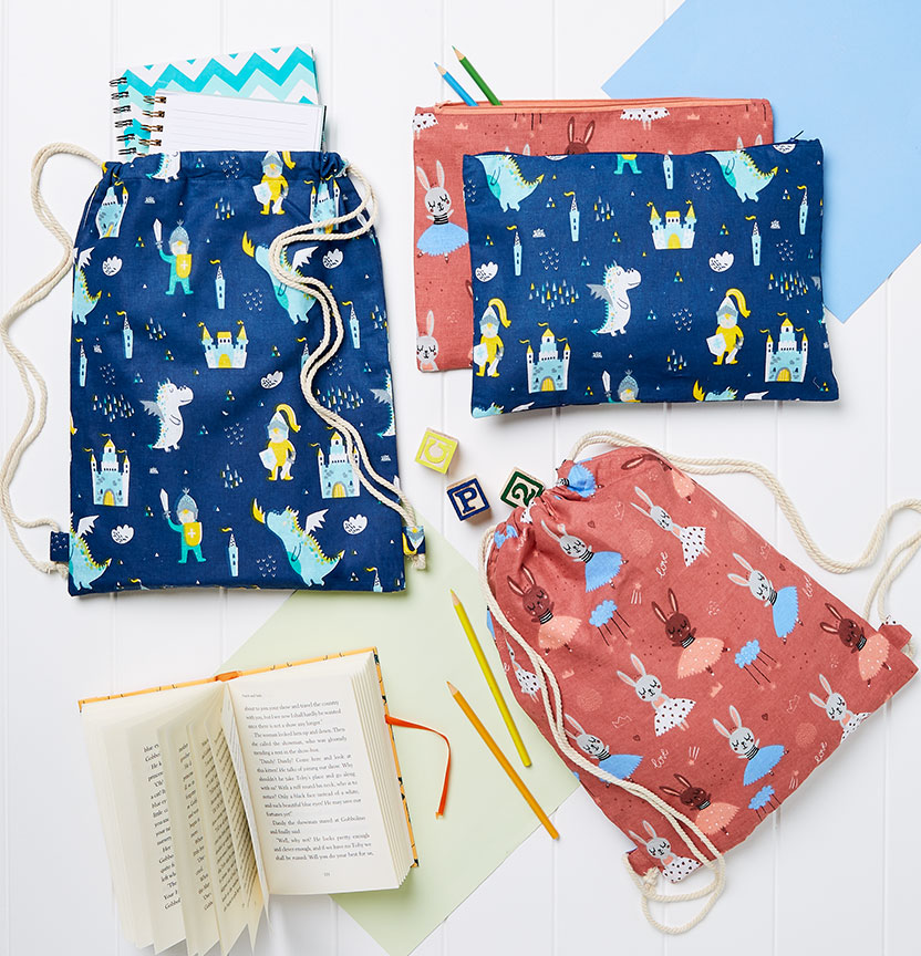 Pencil Case & Library Bag Project