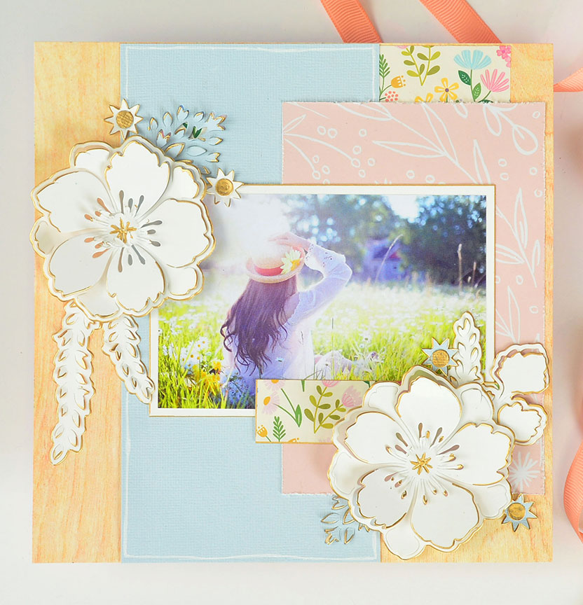 Peony Pop-Up Scrapbook Project