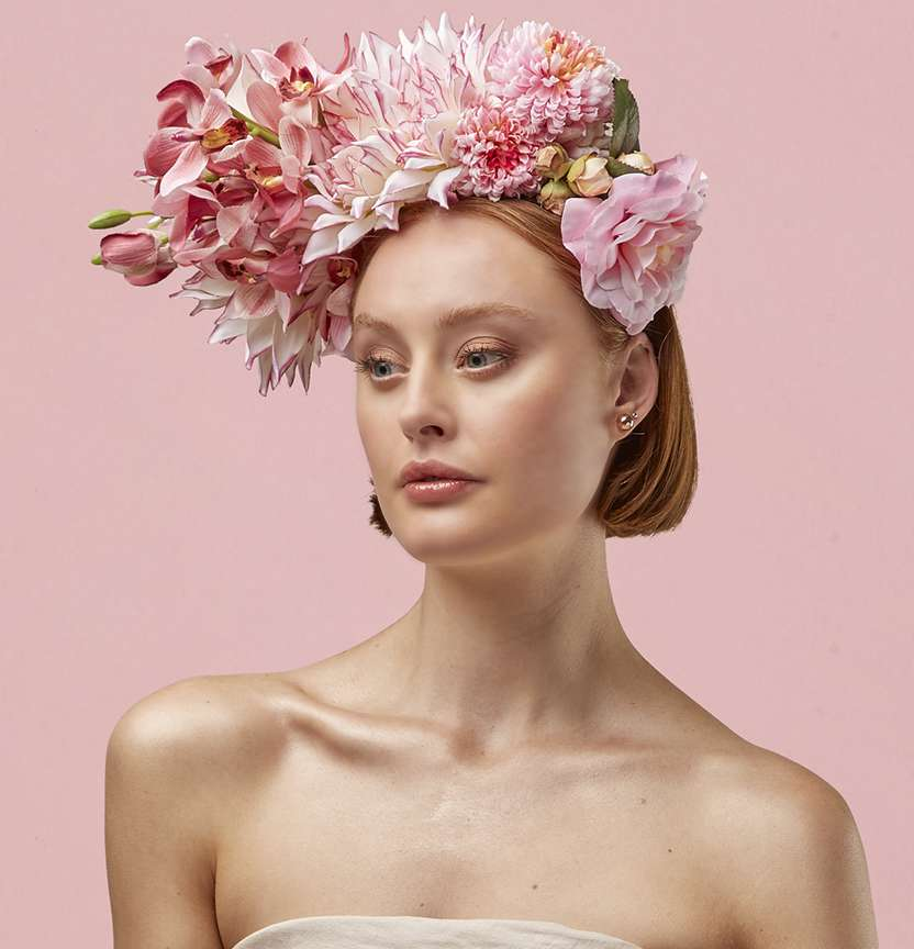 Pink Floral Headpiece Project