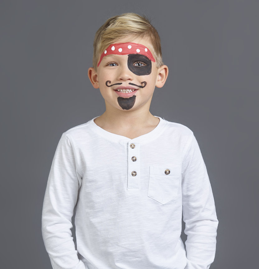 Pirate Face Paint Project