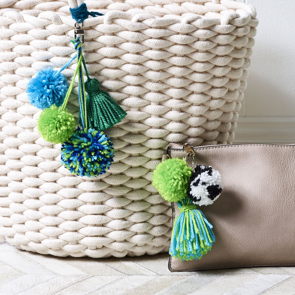 Pom Pom Bag Tassel Project