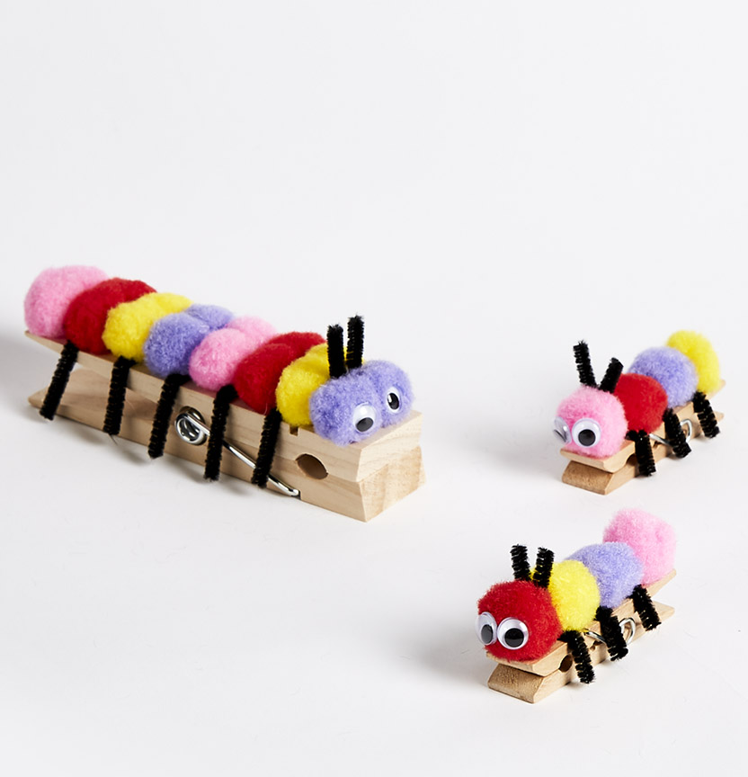 Pom Pom Caterpillar Project
