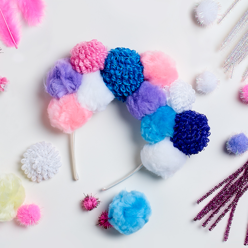 Pom Pom Headband Project