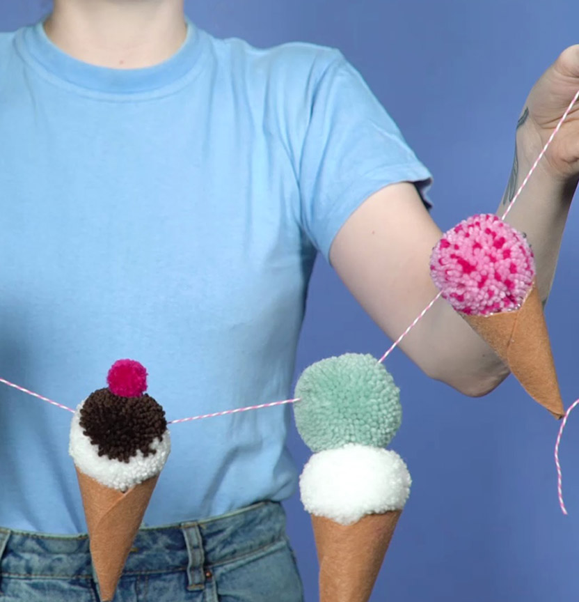 Pom Pom Ice Cream Bunting Project
