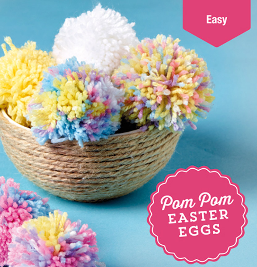 Pompom Easter Eggs Project