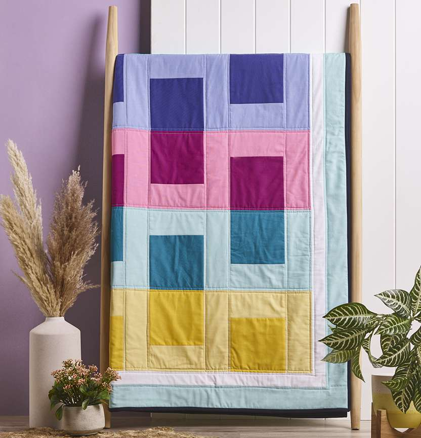 Prima Homespun Up Down Quilt Project
