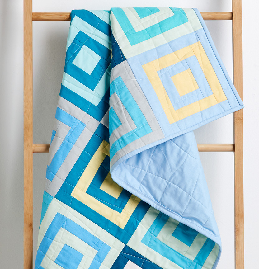 Prima Modern Log Cabin Quilt Project