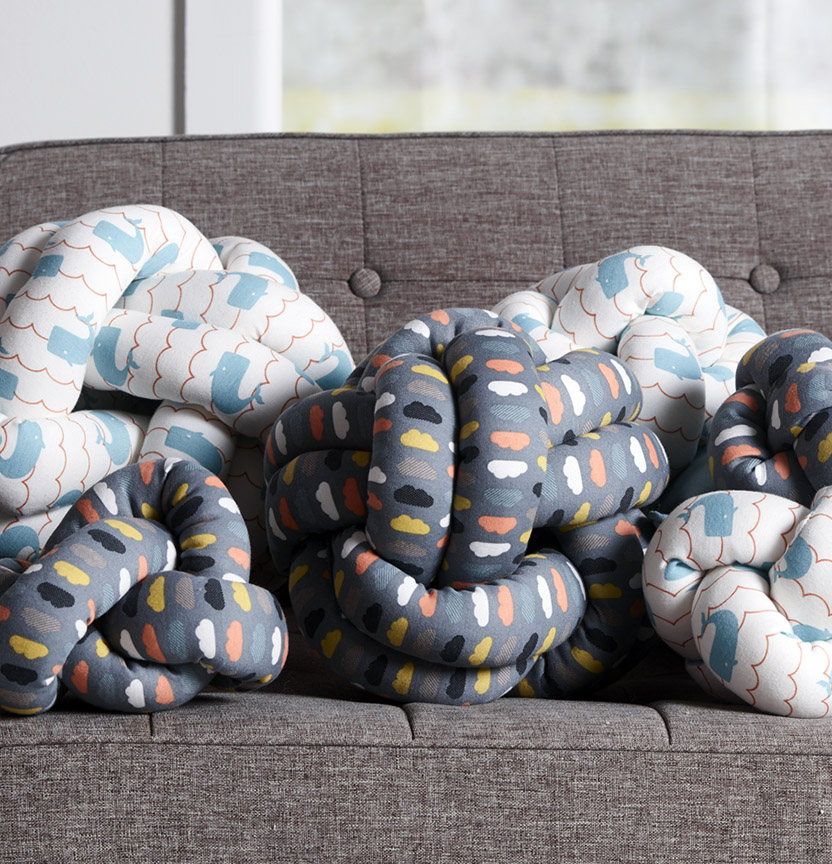 Printed Jersey Knot Cushions Project