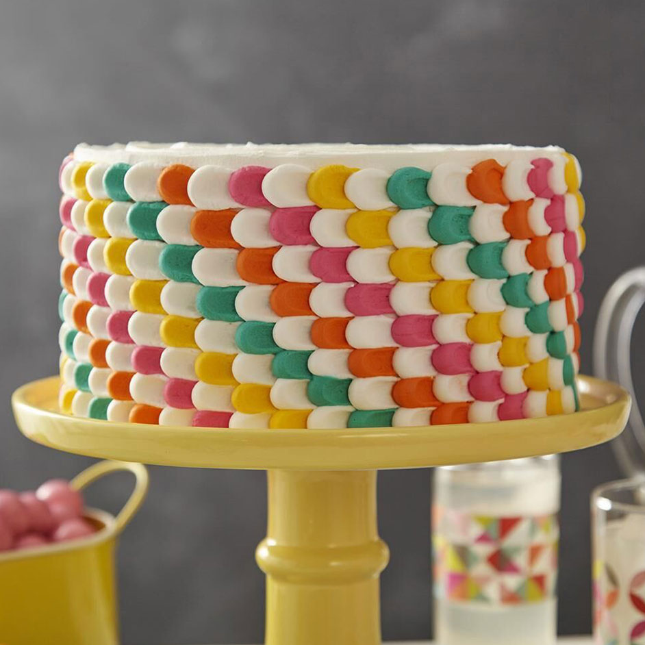 Pulled Dot Party Cake Project