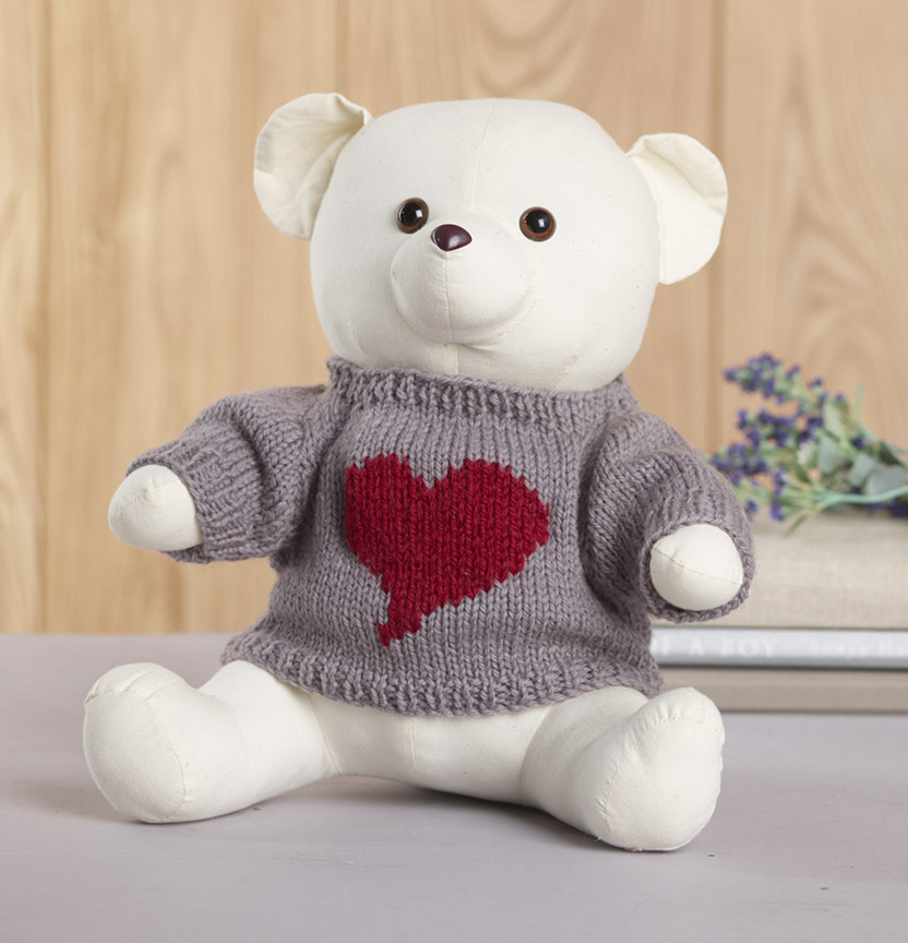 Pure Wool Entwine Bear Jumper Project