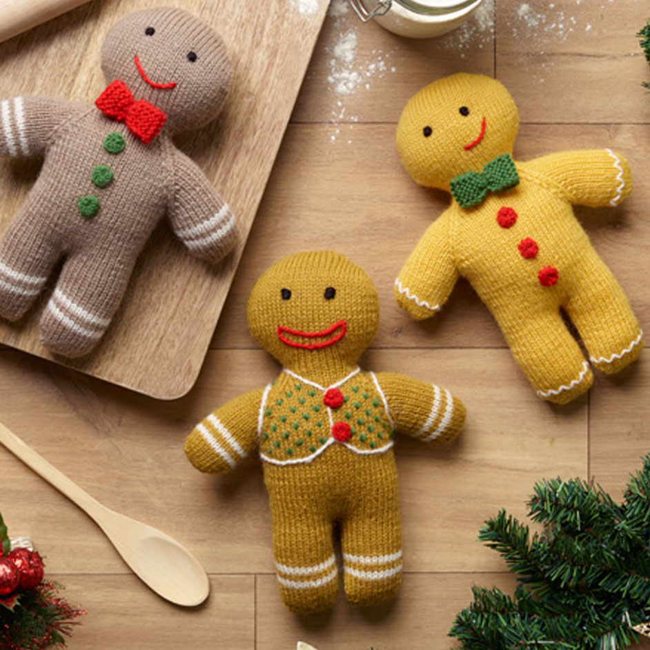 Pure Wool Entwine Gingerbread People Project