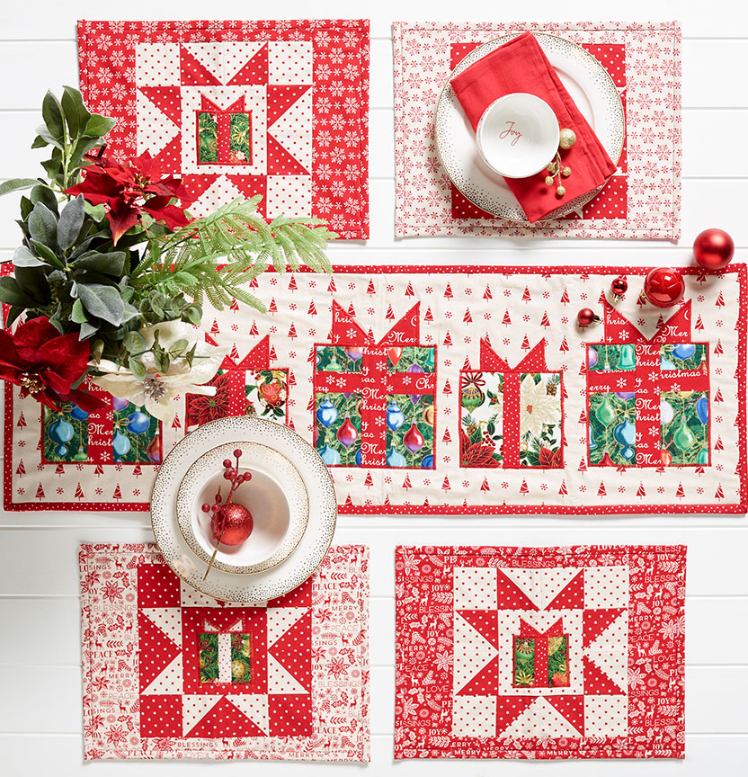 Quilted Christmas Runner & Placemats Project
