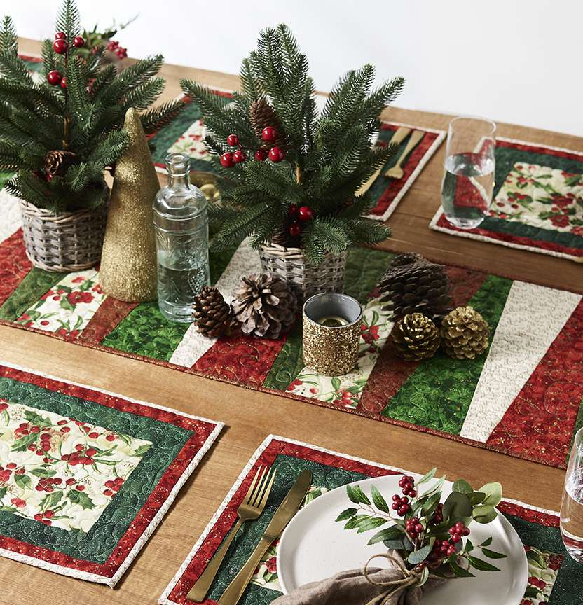 Quilted Christmas Table Setting Project