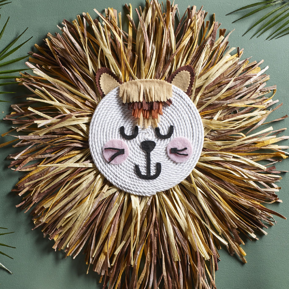 Raffia Lion Head Project
