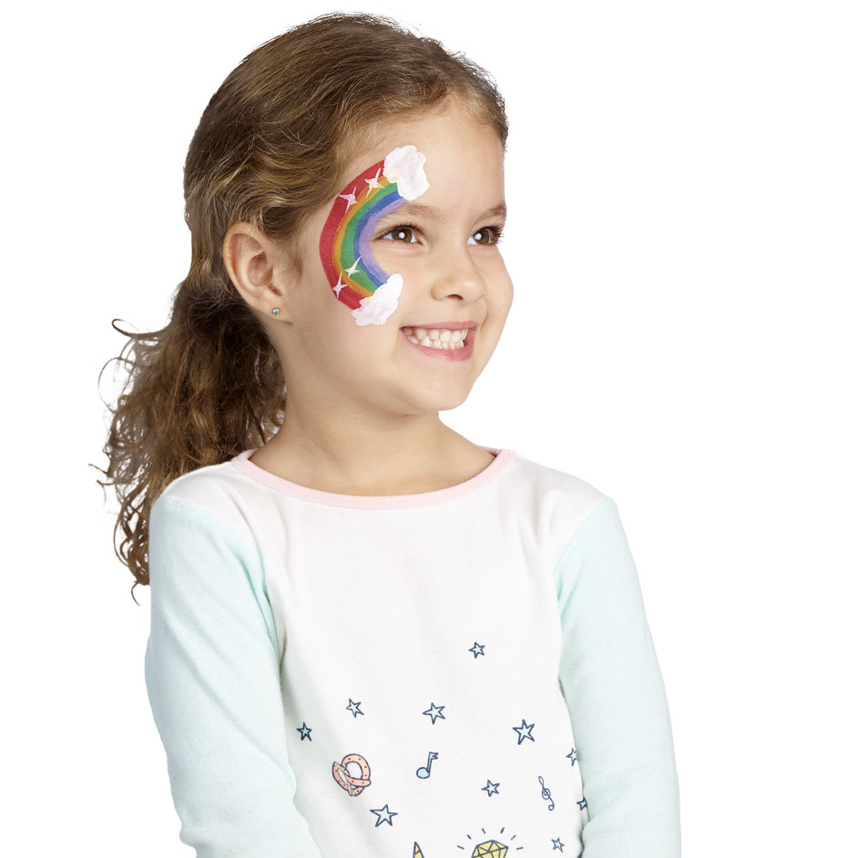 Rainbow Face Paint Project