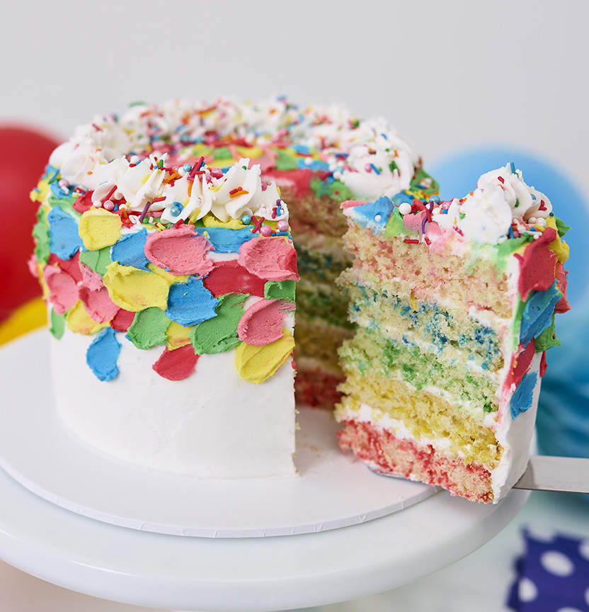 Rainbow Layer Cake Project