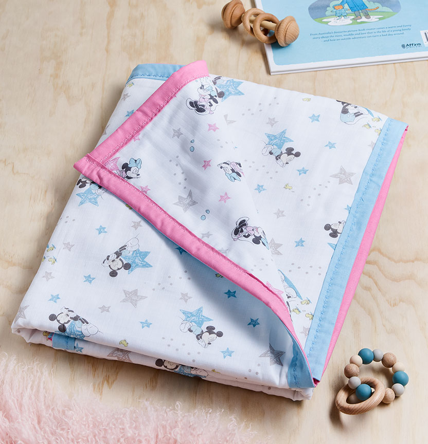 Reversible Muslin Blanket Project