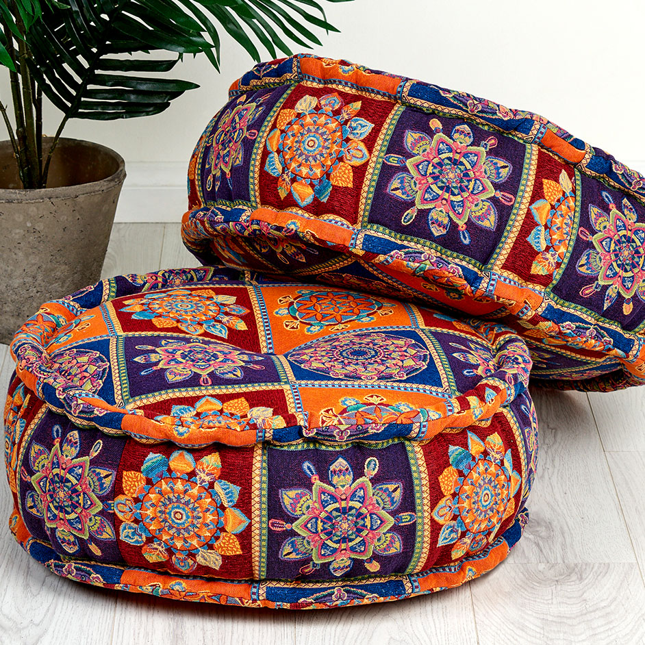 Round Boho Floor Cushions Project
