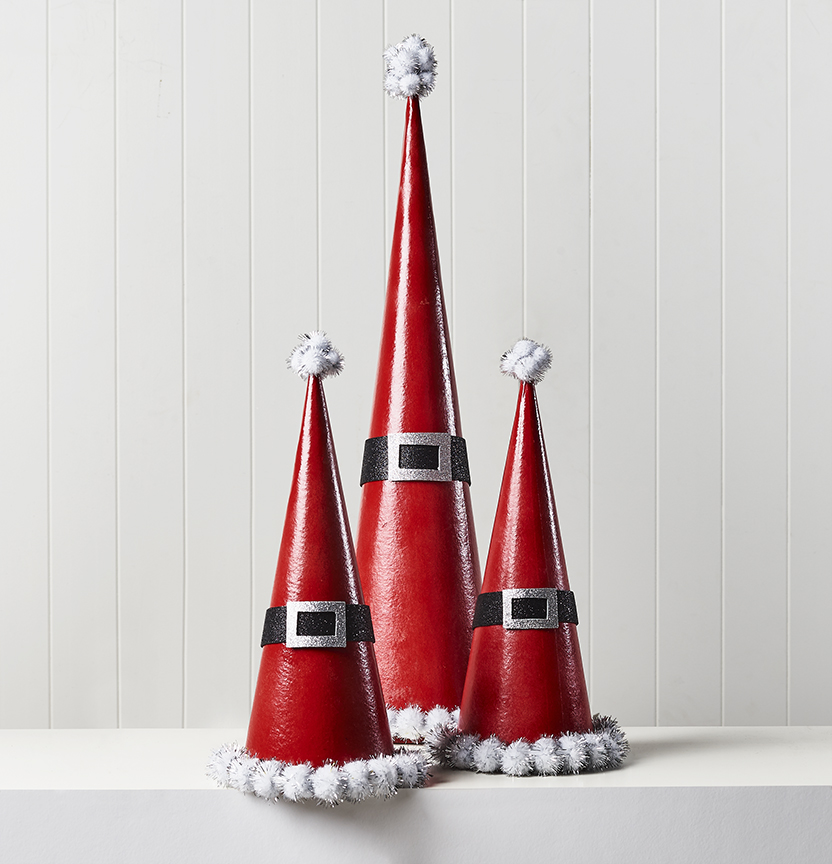 Santa Hat Cones Project